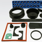 Cut and molded rubber samples