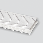 Interwoven 120# Polyester White PVC Chevron Top x Friction