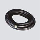 "3/8"" x 25' 3000 PSI Black Pressure Washer Hose Assembly — Male x Male Swivel"