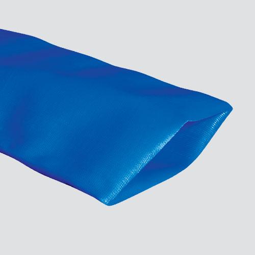 "1"" Blue Standard-Duty PVC Layflat Discharge Hose — Bulk/Uncoupled"
