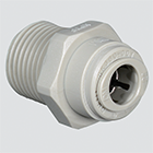 "1/2"" Tube x 1/2"" Male Pipe Thread Connector Push-In Fitting"