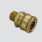"1/4"" Quick Disconnect Plug x 1/4"" Male Pipe Thread Pressure Washer Adapter (Unpackaged)"
