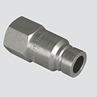 "1/2"" Flat Face Male Tip x 1/2"" Female Pipe Thread Quick Disconnect Skid Steer Coupler (FFE491-4)"