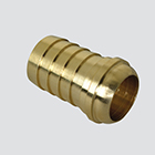 "1/4"" Female Pipe Thread Ball Seat Swivel x 1/4"" Hose Barb Brass Fitting"