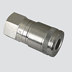 "1/2"" Female Pipe Thread x 3/8"" Body Flat Face Quick Disconnect Skid Steer Coupler (FFE495-4)"
