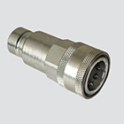 "1/2"" Flat Face Male Tip x 1/2"" Female Coupler Quick Disconnect Skid Steer Coupler (FAE56-49-4)"