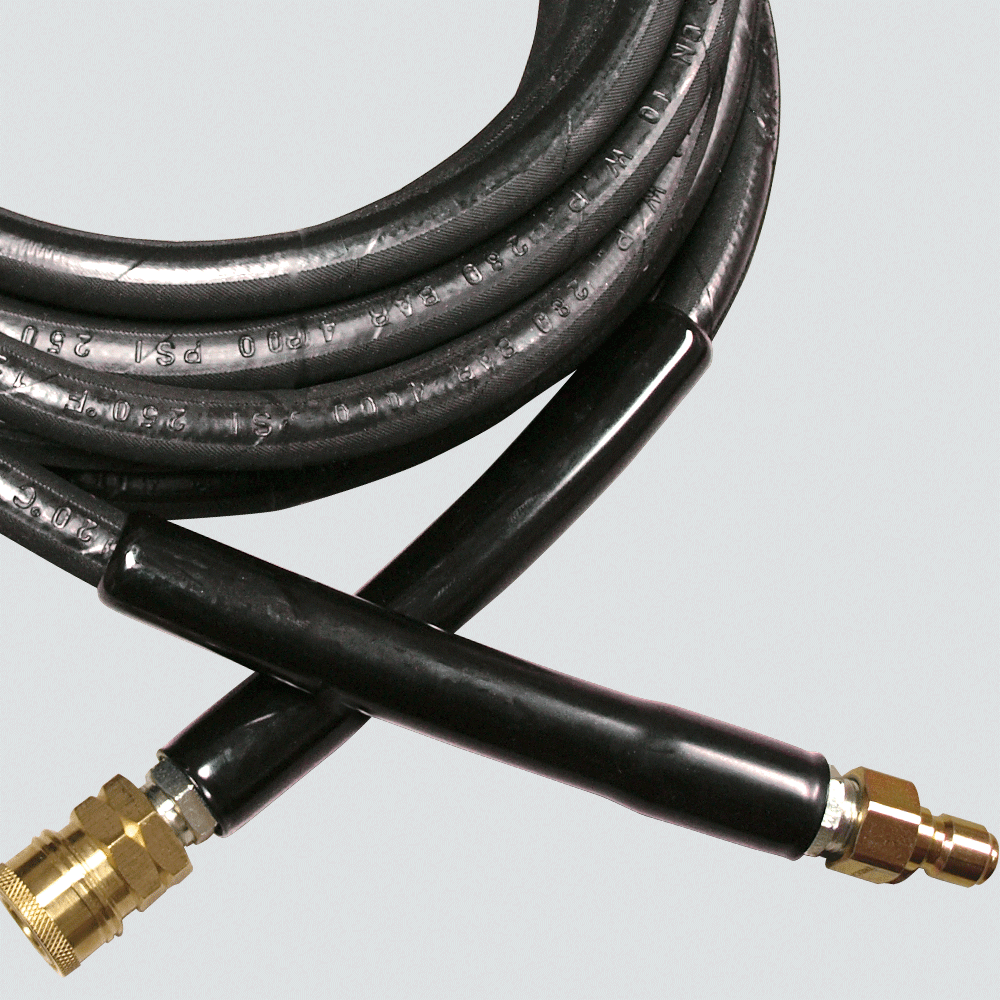 """3/8"""" x 25' 4000 PSI Pressure Washer Hose Assembly — Quick Disconnect"""