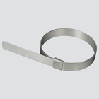 "1-1/2"" Center Punch Preformed Clamp — Stainless Steel"