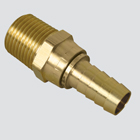 "1/4"" Male Pipe Thread Swivel x 3/8"" Hose Barb Brass Fitting"