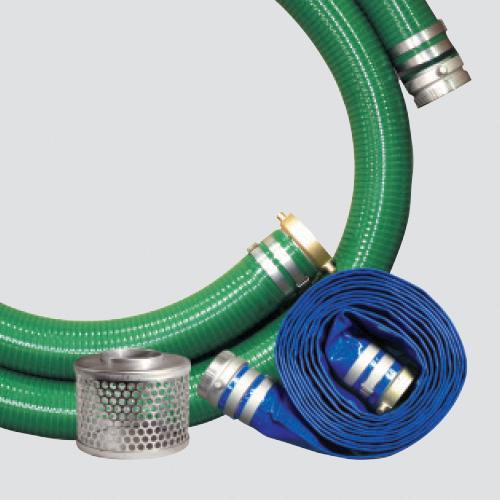 "3"" Water Transfer Pump Kit — Aluminum Fittings & Steel Strainer"