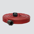 """1-1/2"""" x 50' Nitrile Cover Hose Fire Suppression Hose Assembly"""