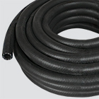 "1"" x 25' Black 200 PSI Multipurpose (AG 200) Air & Water Hose — Coiled"