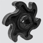 45 mm 6 Finger Finishing Rubber Recycling Star