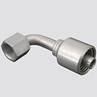 "1"" Gates MegaCrimp® x 1"" Female JIC 90° Swivel Hydraulic Fitting"