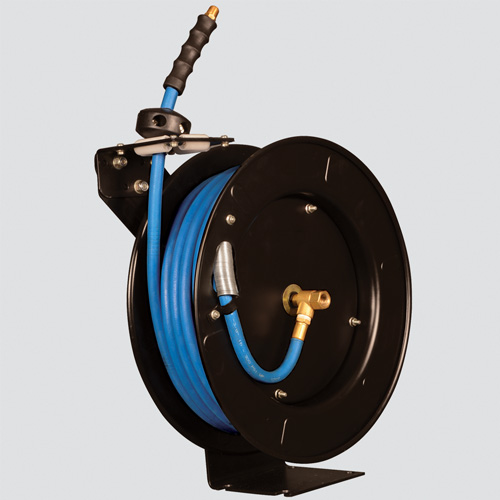 "1/2"" x 50' 300 PSI Blue Rubber Air Hose Reel"