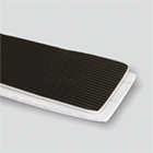 2-Ply 100# Polyester Black PVC Longitudinal Rib x Bare Whisper Weave Anti-static/Fire Retardant