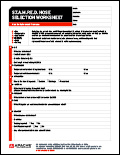 STAMPED Hose Selection Worksheet