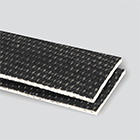 Interwoven 150# Polyester Black PVC Friction x Brushed